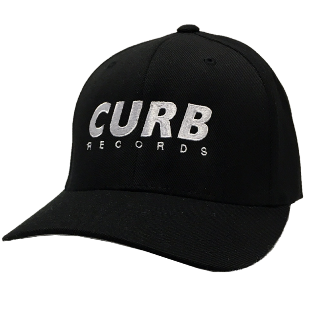 Curb Records Fitted Black Ballcap