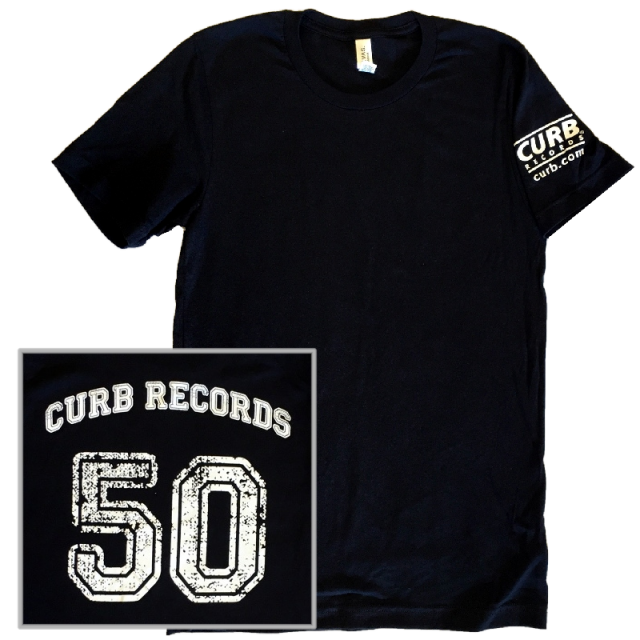 Curb Records 50th Anniversary Black Tee